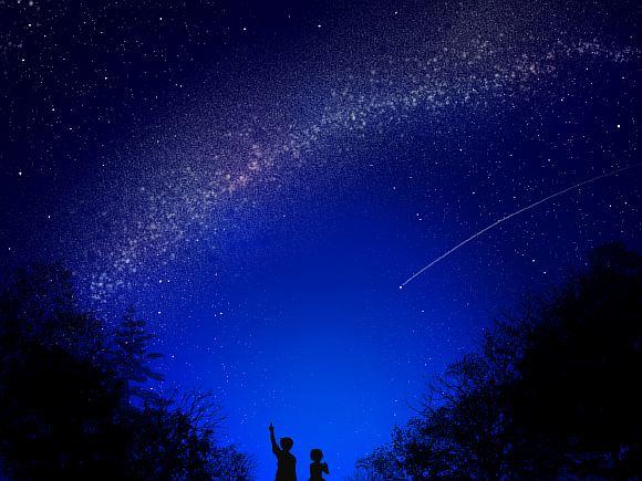 Фото ночного неба с характеристиками объявления