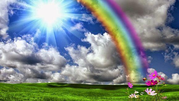 Фонарей уличных, открытки с радугой и природой